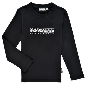 Textil Rapaz T-shirt mangas compridas Napapijri S-BOX LS Preto