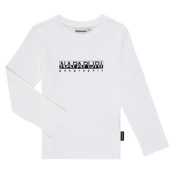 Textil Rapaz T-shirt mangas compridas Napapijri S-BOX LS Branco