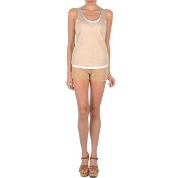 Textil Mulher Shorts / Bermudas Majestic SOLENE Bege