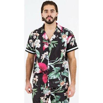 Textil Homem Camisas mangas curtas Sixth June Chemise  tropical noir