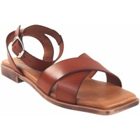 Sapatos Mulher Sandálias Eva Frutos senhora em couro  c11 Castanho