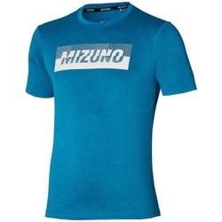 Textil Homem T-Shirt mangas curtas Mizuno Core Graphic Tee Azul