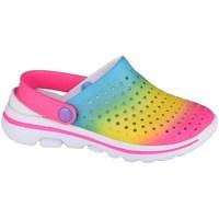Sapatos Rapariga Tamancos Skechers GO Walk 5 Play BY Play Azul, Cor-de-rosa
