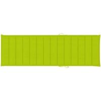 Casa Almofada de cadeira VidaXL Almofadão para espreguiçadeira 200 x 70 x 4 cm Verde