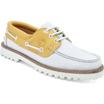 Sapatos Mulher Sapato de vela Seajure Quirimbas  Boat Shoe Amarelo e Branco