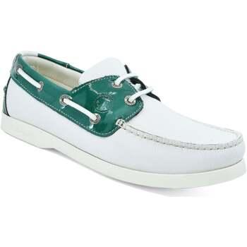 Sapatos Mulher Sapato de vela Seajure Gidaki Boat Shoe Verde e Branco