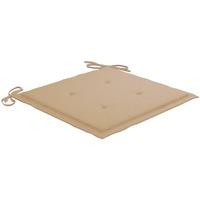 Casa Almofada de cadeira VidaXL Almofadão para cadeira de jardim 40 x 40 x 4 cm Bege