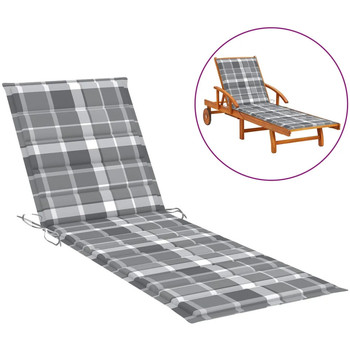 Casa Almofada de cadeira VidaXL Almofadão para espreguiçadeira 200 x 60 x 4 cm Multicolor