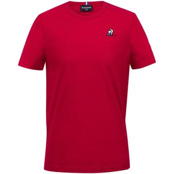 Textil Rapaz T-Shirt mangas curtas Le Coq Sportif Essentiels Tee SS N°2 Kids Vermelho