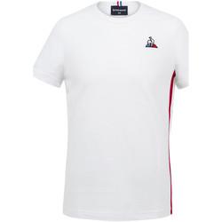 Textil Rapaz T-Shirt mangas curtas Le Coq Sportif Tricolore Tee SS N°2 Kids Branco
