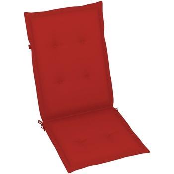 Casa Almofada de cadeira VidaXL Almofadão para cadeira de jardim 120 x 50 x 4 cm Vermelho