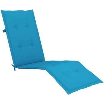 Casa Almofada de cadeira VidaXL Almofadão para cadeira de terraço Azul