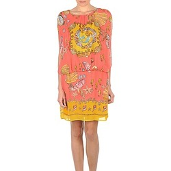 Textil Mulher Vestidos curtos Derhy ACCORDABLE Rosa / Amarelo