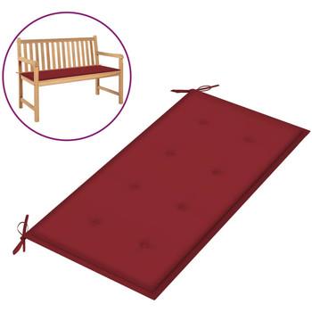 Casa Almofada de cadeira VidaXL Almofadão de banco 100 x 50 x 4 cm Vermelho