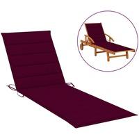 Casa Almofada de cadeira VidaXL Almofadão para espreguiçadeira 200 x 50 x 4 cm Vermelho