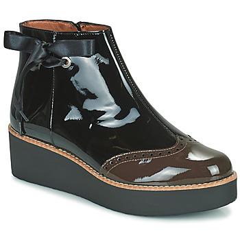 Sapatos Mulher Botas baixas Fericelli JANDICI Preto / Castanho