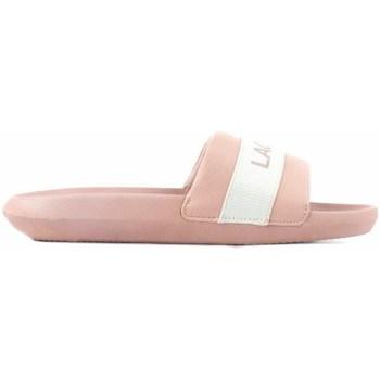 Sapatos Mulher chinelos Lacoste Croco Slide Cor-de-rosa