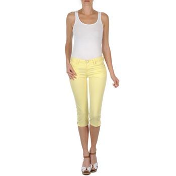 Textil Mulher Calças curtas Mustang Jasmin cropped Amarelo
