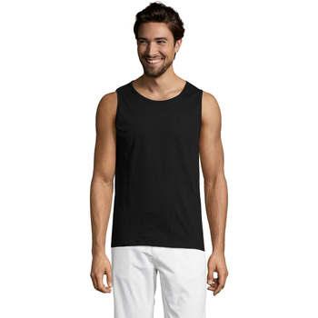 Textil Homem Tops sem mangas Sols Justin camiseta sin mangas Negro