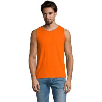 Textil Homem Tops sem mangas Sols Justin camiseta sin mangas Naranja