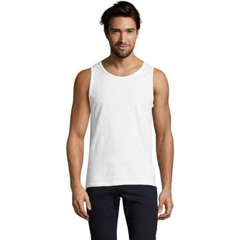 Textil Homem Tops sem mangas Sols Justin camiseta sin mangas Blanco
