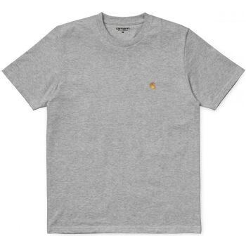 Textil Homem T-Shirt mangas curtas Carhartt T-Shirt Chase Grey Heather Cinza