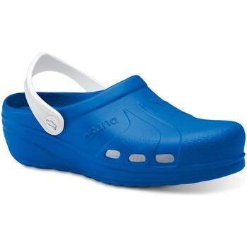 Sapatos Homem Tamancos Feliz Caminar Zuecos Sanitarios Asana - Azul
