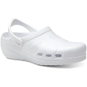 Sapatos Homem Tamancos Feliz Caminar Zuecos Sanitarios Asana - Branco