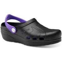 Sapatos Homem Tamancos Feliz Caminar Zuecos Sanitarios Asana - Preto