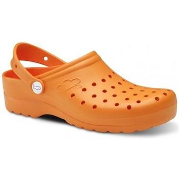 Sapatos Homem Tamancos Feliz Caminar Zuecos Sanitarios Flotantes Gruyere - Laranja