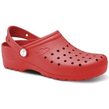 Sapatos Homem Tamancos Feliz Caminar Zuecos Sanitarios Flotantes Gruyere - Vermelho