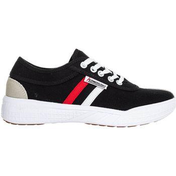 Sapatos Homem Sapatilhas Kawasaki FOOTWEAR - Leap retro canvas shoe - black Preto
