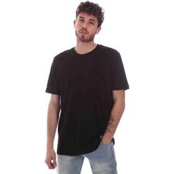 Textil Homem T-Shirt mangas curtas Key Up 2M915 0001 Preto