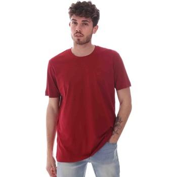 Textil Homem T-Shirt mangas curtas Key Up 2M915 0001 Vermelho