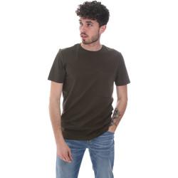 Textil Homem T-Shirt mangas curtas Antony Morato MMKS02023 FA100229 Verde