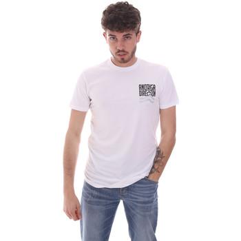 Textil Homem T-Shirt mangas curtas Antony Morato MMKS01993 FA120001 Branco