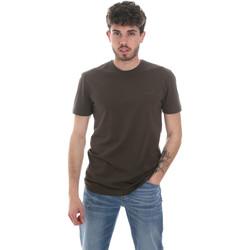 Textil Homem T-shirt mangas compridas Antony Morato MMKS01855 FA120022 Verde