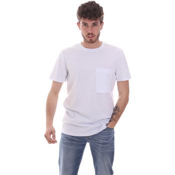 Textil Homem T-Shirt mangas curtas Antony Morato MMKS02023 FA100229 Branco