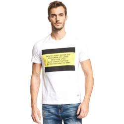 Textil Homem T-Shirt mangas curtas Gaudi 111GU64071 Branco