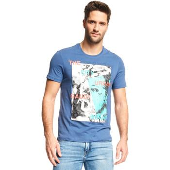 Textil Homem T-Shirt mangas curtas Gaudi 111GU64073 Azul
