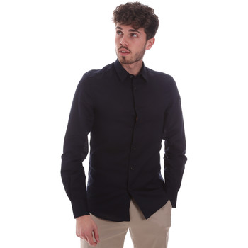 Textil Homem Camisas mangas comprida Antony Morato MMSL00628 FA400074 Azul