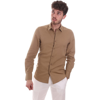 Textil Homem Camisas mangas comprida Antony Morato MMSL00628 FA400074 Bege