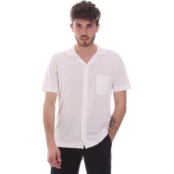 Textil Homem Camisas mangas curtas Antony Morato MMSW01183 YA100063 Branco
