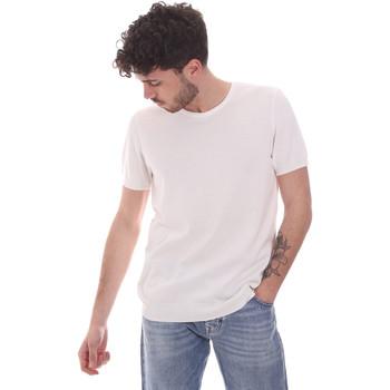 Textil Homem T-Shirt mangas curtas Gaudi 111GU53004 Branco