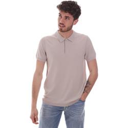 Textil Homem Polos mangas curta Gaudi 111GU53015 Bege
