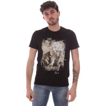 Textil Homem T-Shirt mangas curtas Gaudi 111GU64091 Preto