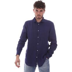 Textil Homem Camisas mangas comprida Gaudi 111GU45005 Azul