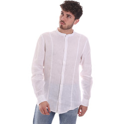 Textil Homem Camisas mangas comprida Gaudi 111GU45006 Branco