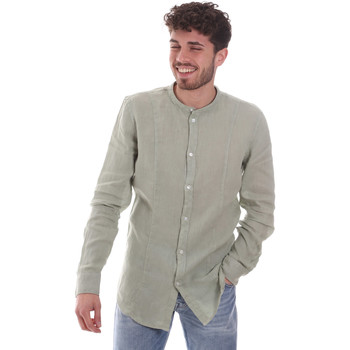 Textil Homem Camisas mangas comprida Gaudi 111GU45006 Verde