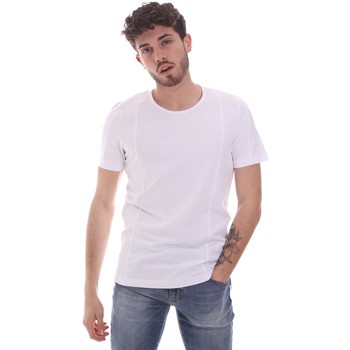 Textil Homem T-Shirt mangas curtas Gaudi 111GU64048 Branco